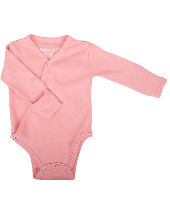 Little l'ovedbaby layette nb Kimono Bodysuit in Coral