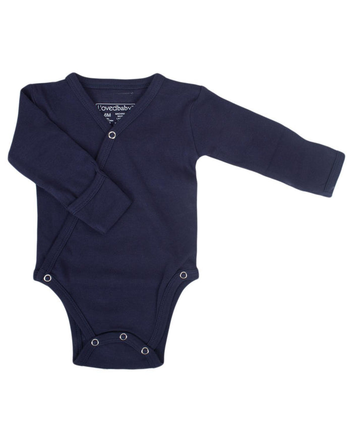 Little l'ovedbaby layette nb Kimono Bodysuit in Navy