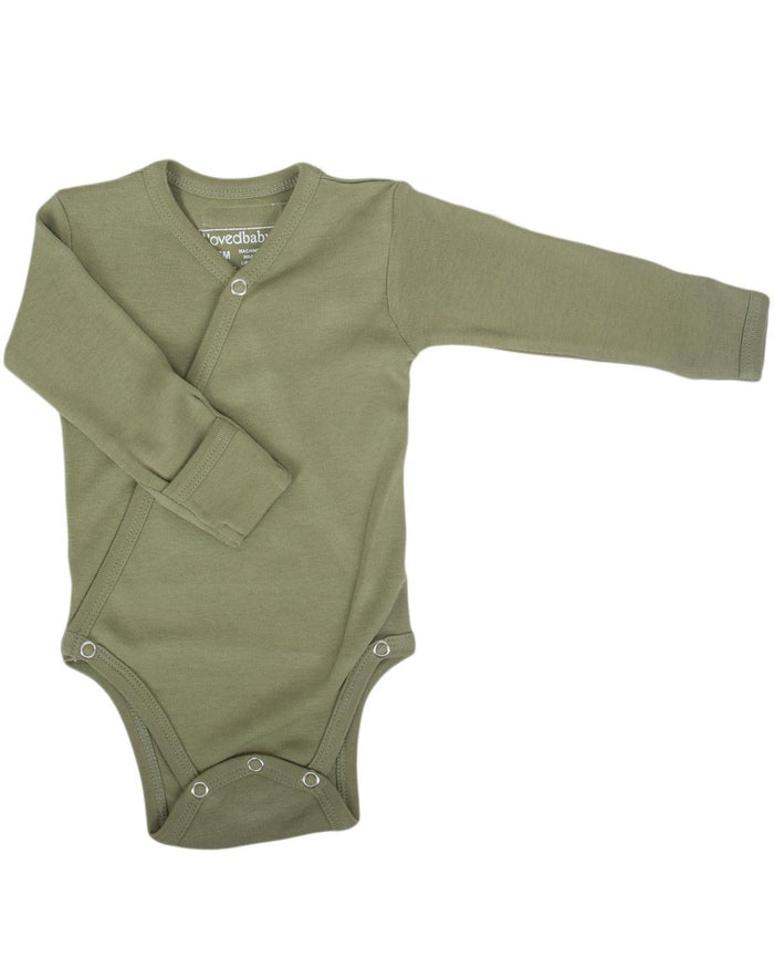 Little l'ovedbaby layette nb Kimono Bodysuit in Sage