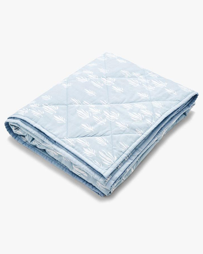 Little lewis room inverse seaweed baby blanket in bay blue