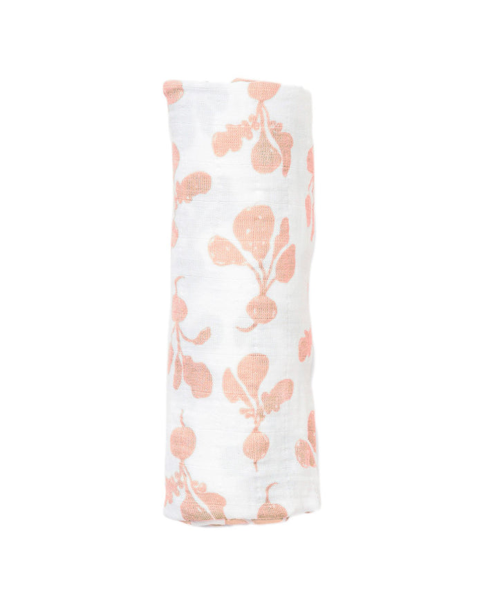 Little lewis baby accessories radish swaddle in blush