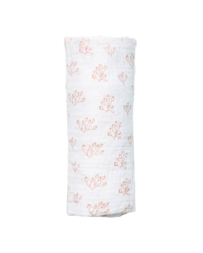 Little lewis baby accessories rose hip swaddle in blush