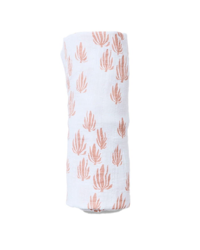 Little lewis baby accessories seaweed swaddle in blush