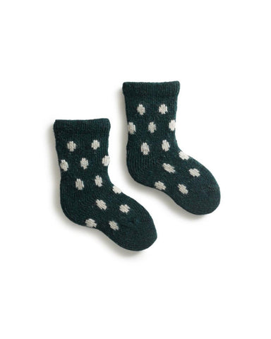 Little lisa b. accessories baby dot socks in ivy