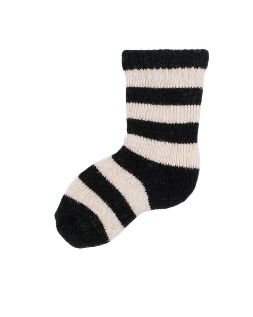 Little lisa b. accessories Black Rugby Stripe Baby Socks