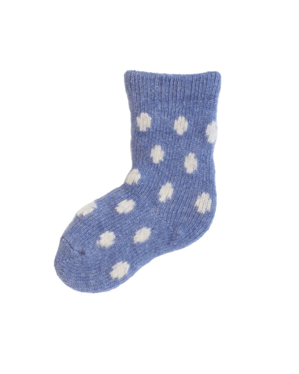 Little lisa b. accessories Chambray Dot Baby Socks