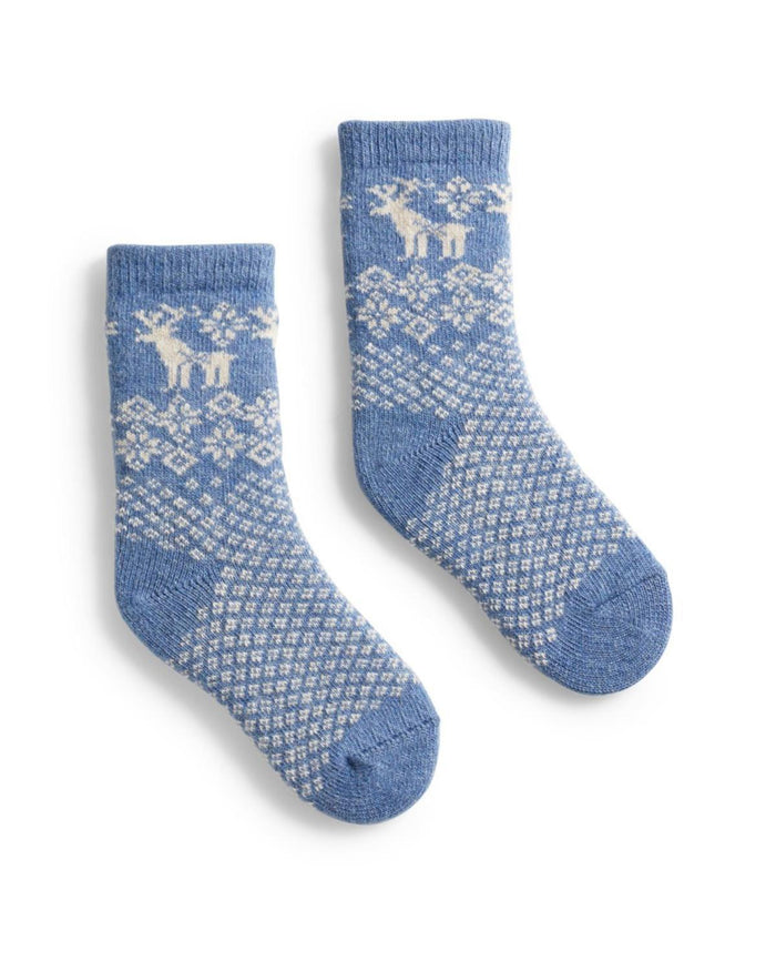 Little lisa b. accessories Chambray Reindeer Toddler Socks
