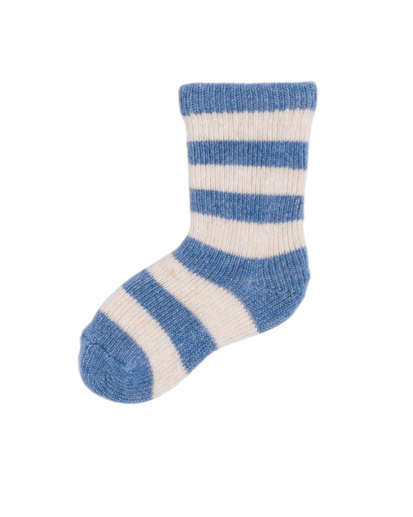 Little lisa b. accessories Chambray Rugby Stripe Baby Socks