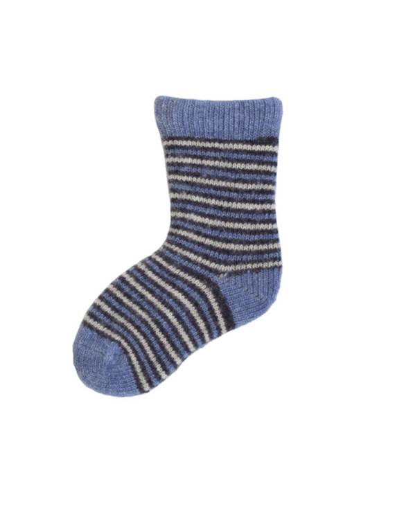 Little lisa b. accessories Chambray Striped Baby Socks