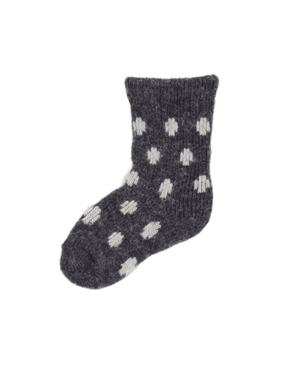 Little lisa b. accessories Charcoal Dot Baby Socks