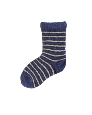 Little lisa b. accessories Denim Striped Baby Socks
