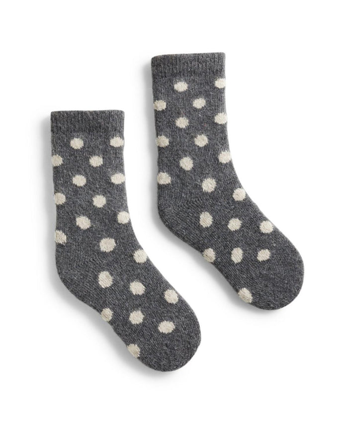 Little lisa b. accessories Grey Heather Dot Toddler Socks
