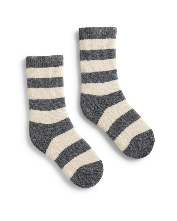 Little lisa b. accessories Grey Heather Rugby Stripe Toddler Socks