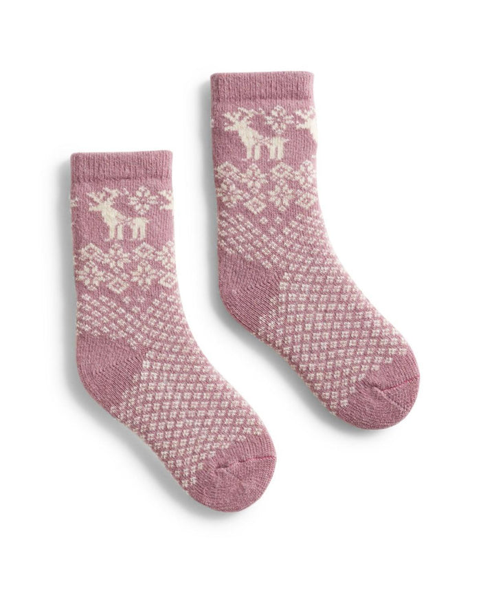 Little lisa b. accessories Mauve Reindeer Toddler Socks