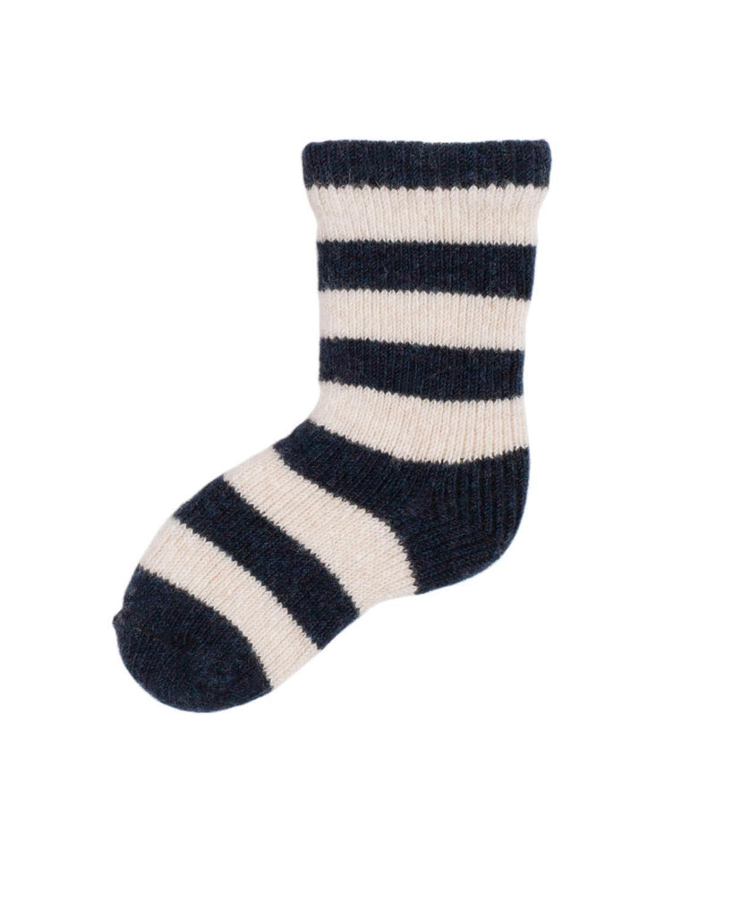Little lisa b. accessories Navy Rugby Stripe Baby Socks