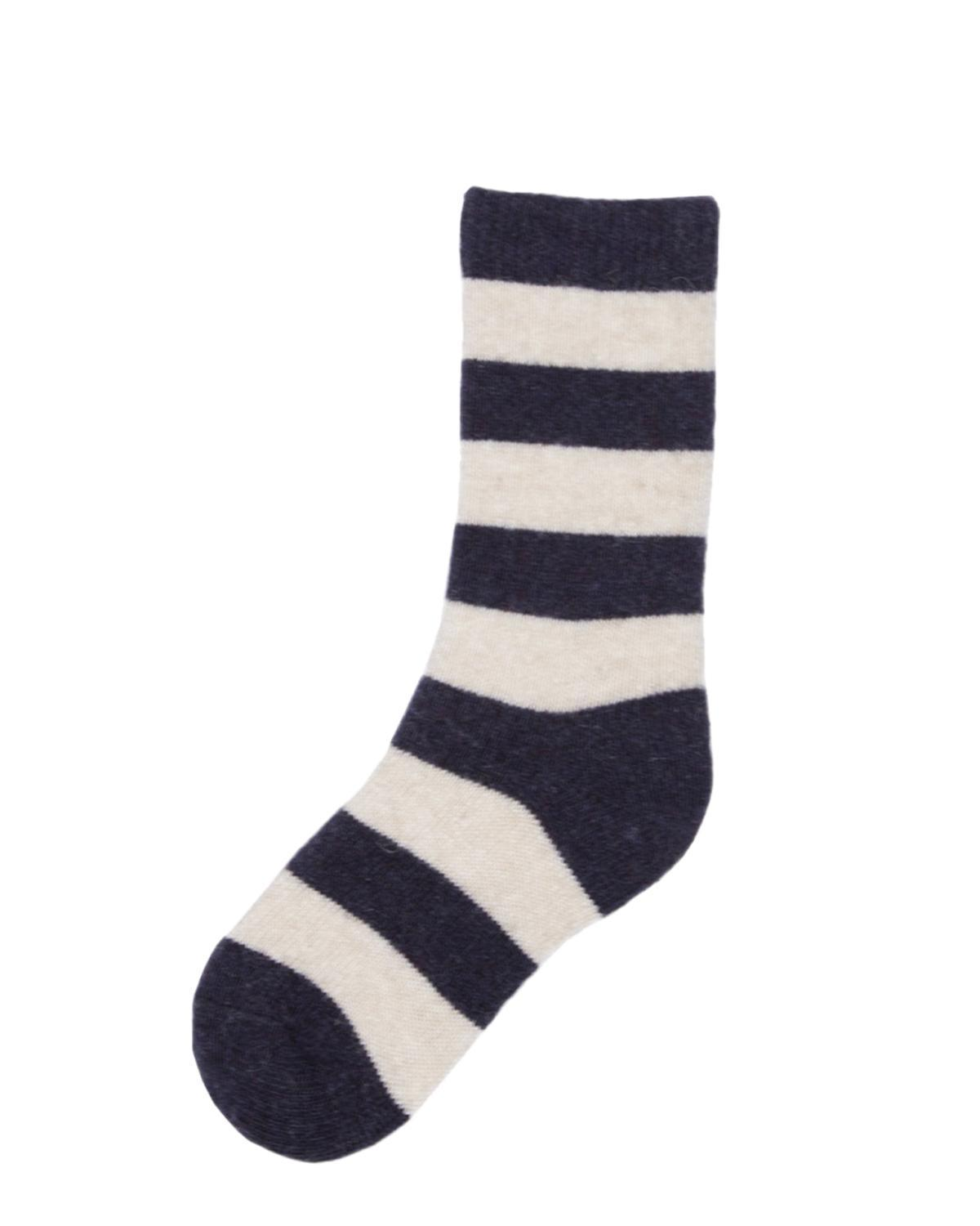Little lisa b. accessories Navy Rugby Stripe Toddler Socks
