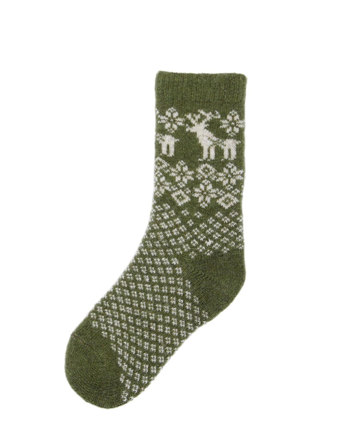 Little lisa b. accessories Peridot Reindeer Toddler Socks