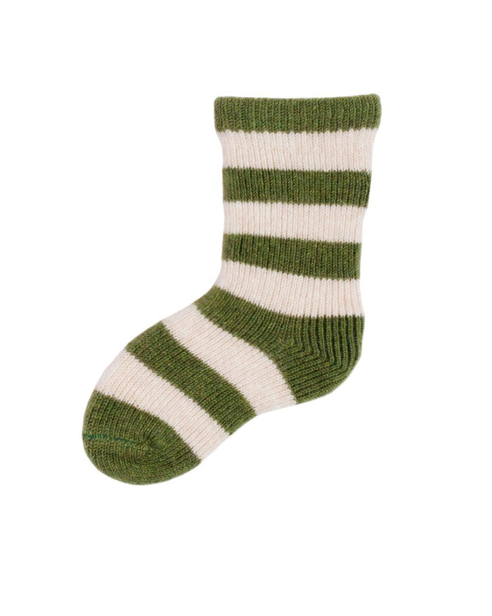 Little lisa b. accessories Peridot Rugby Stripes Baby Socks