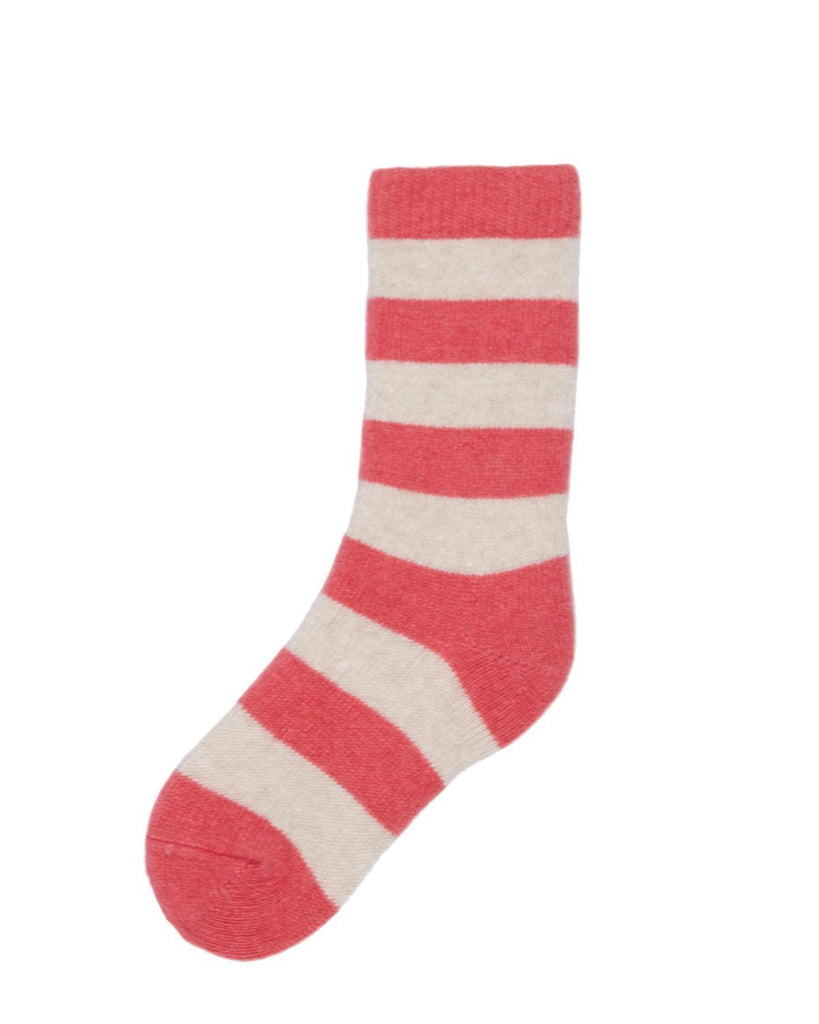 Little lisa b. accessories Pink Rugby Stripe Toddler Socks