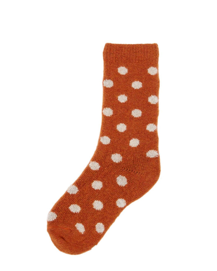 Little lisa b. accessories Pumpkin Dot Toddler Socks