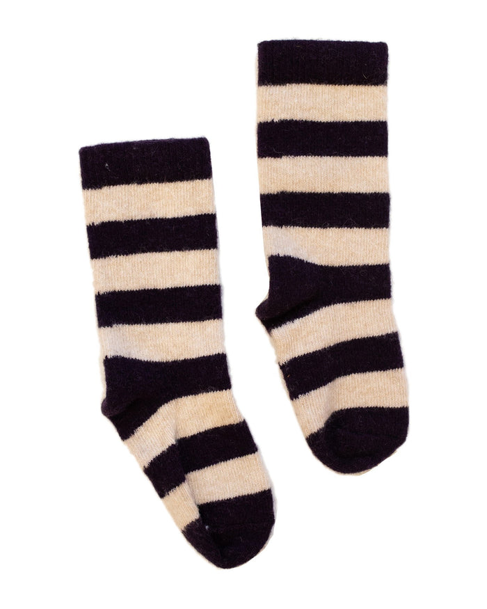 Little lisa b. accessories toddler rugby stripe socks in amethyst