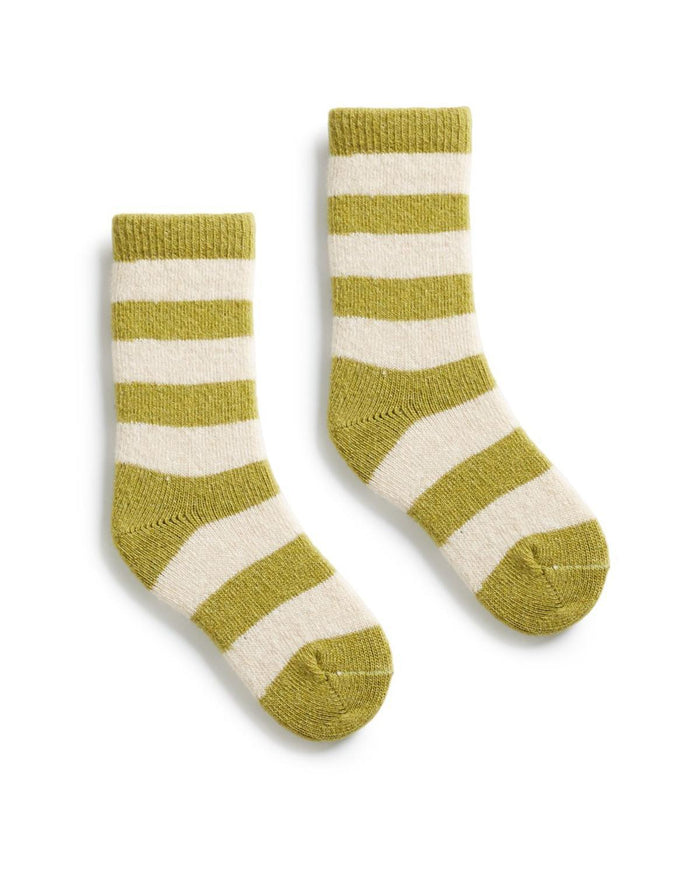 Little lisa b. accessories toddler rugby stripe socks in palm leaf