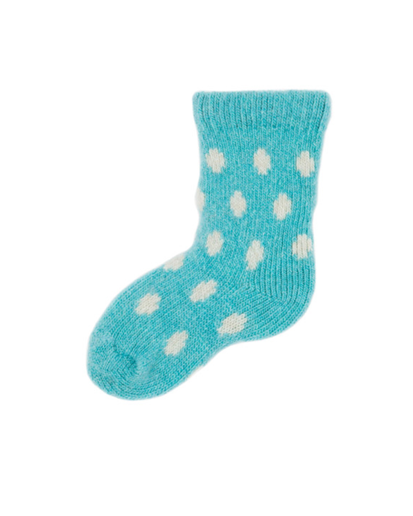 Little lisa b. accessories Turquoise Dot Baby Socks
