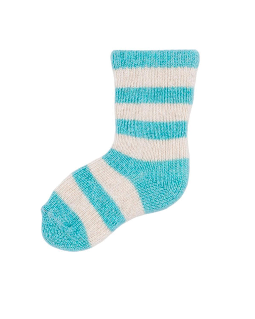 Little lisa b. accessories Turquoise Rugby Stripe Baby Socks