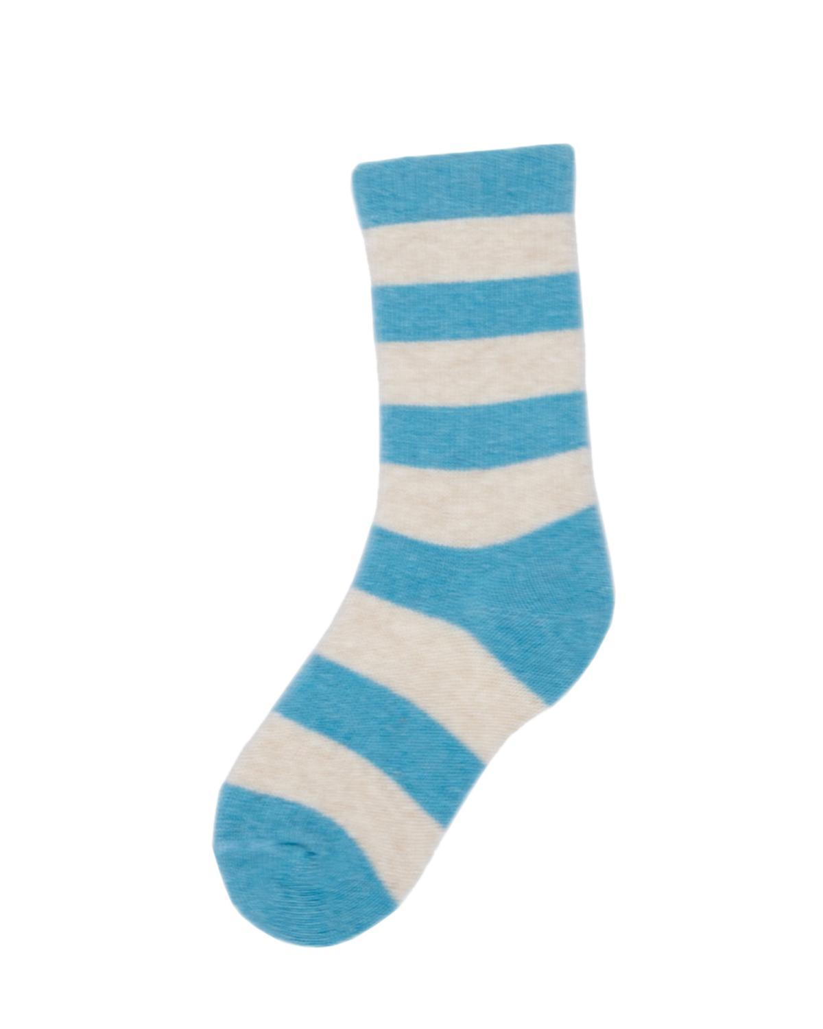 Little lisa b. accessories Turquoise Rugby Stripe Toddler Socks