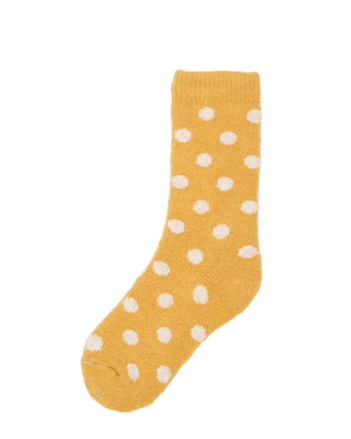 Little lisa b. accessories Yellow Dot Toddler Socks