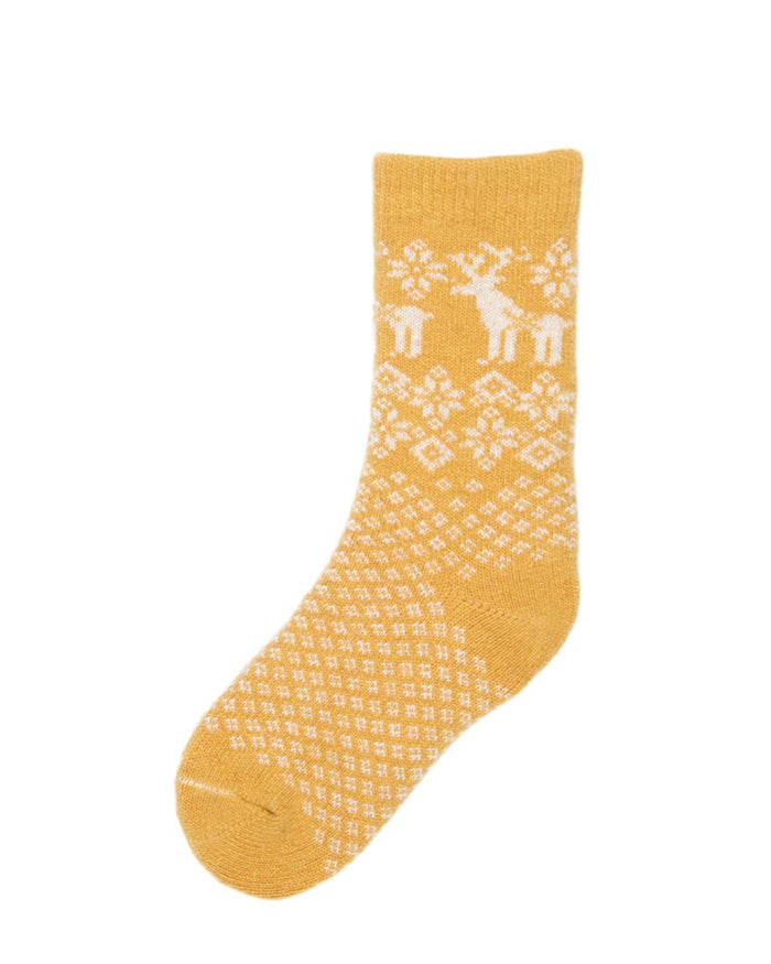 Little lisa b. accessories Yellow Reindeer Toddler Socks