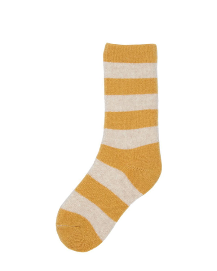 Little lisa b. accessories Yellow Rugby Stripe Toddler Socks