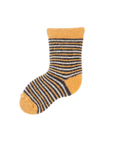 Little lisa b. accessories Yellow Striped Baby Socks