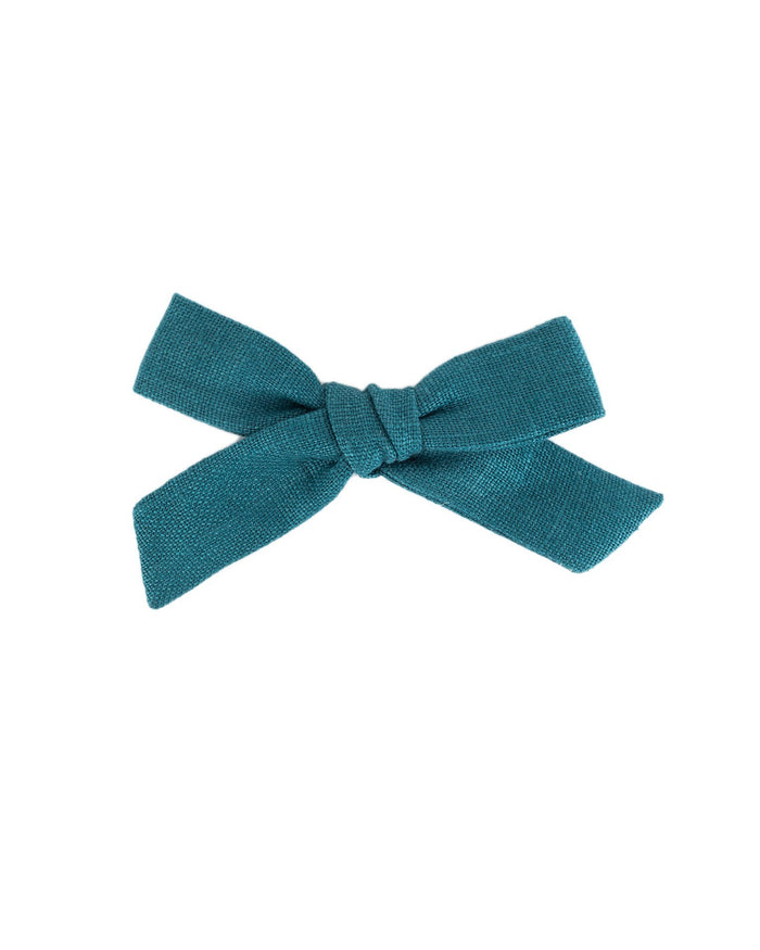 Little little accessories medium schoolgirl bow in eventide