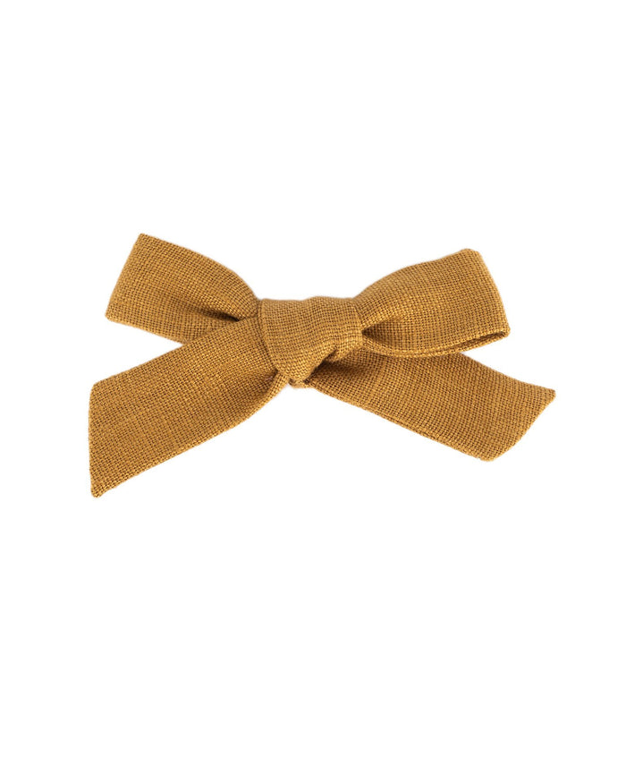 Little little accessories medium schoolgirl bow in honey