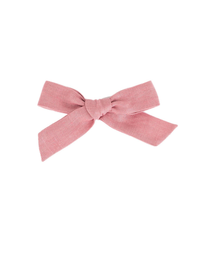 Little little accessories medium schoolgirl bow in peony