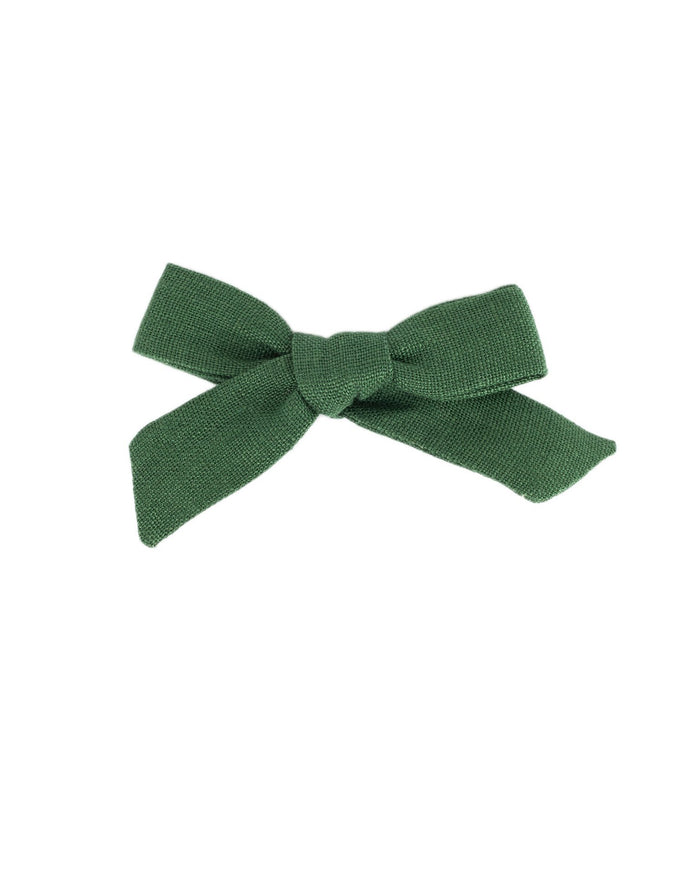 Little little accessories medium schoolgirl bow in pine