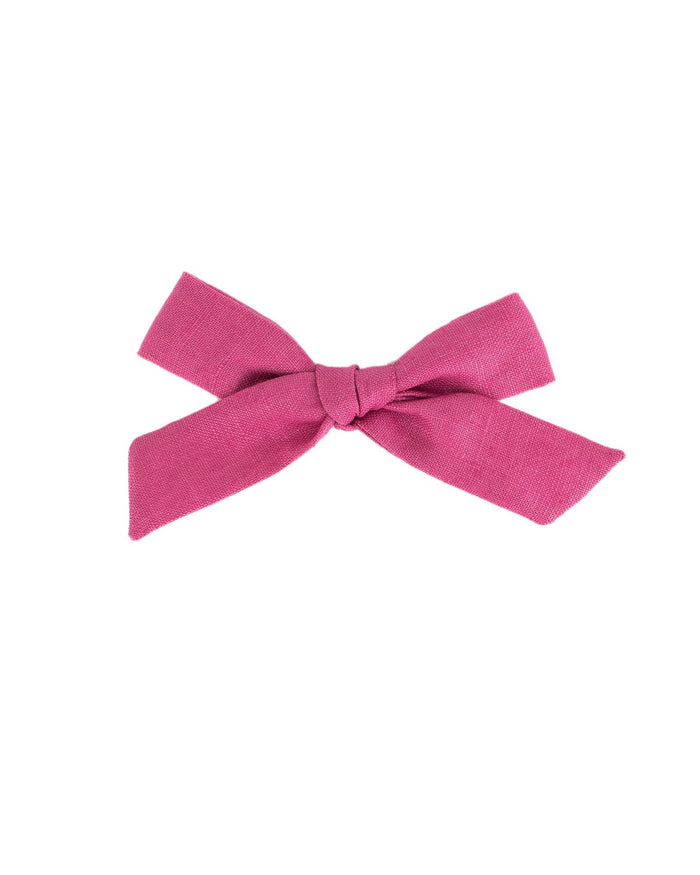 Little little accessories medium schoolgirl bow in primrose
