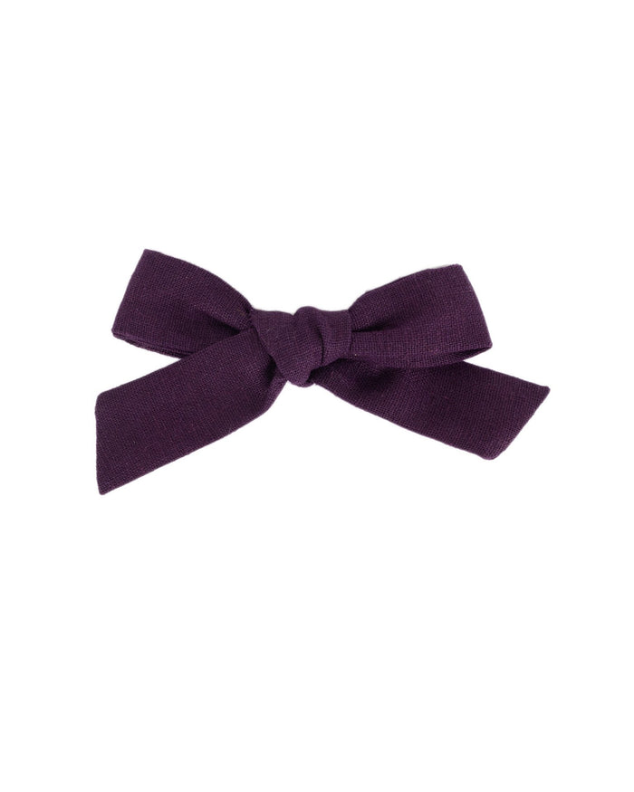 Little little accessories medium schoolgirl bow in thistle