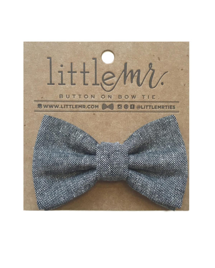 Little little mister accessories s Button on Bow Tie in Black