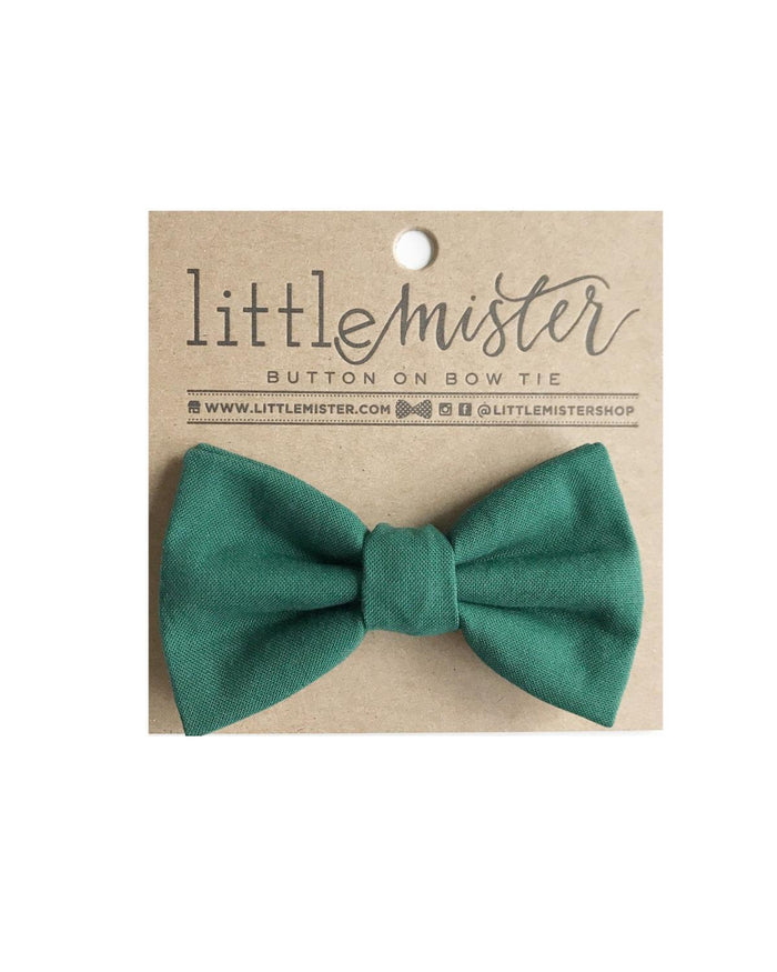 Little little mister accessories s Button On Bow Tie in Emerald