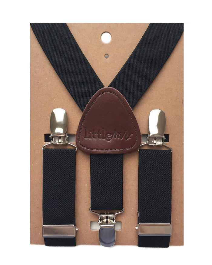 Little little mister accessories Suspenders in Black