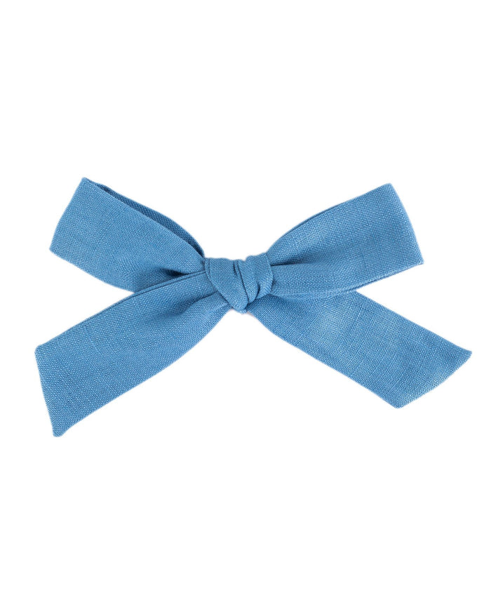 Little little accessories oversized schoolgirl bow in bluebell