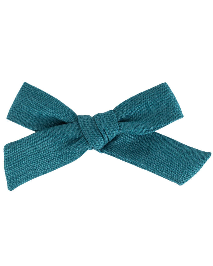 Little little accessories oversized schoolgirl bow in eventide