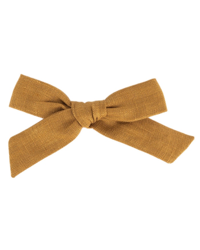 Little little accessories oversized schoolgirl bow in honey