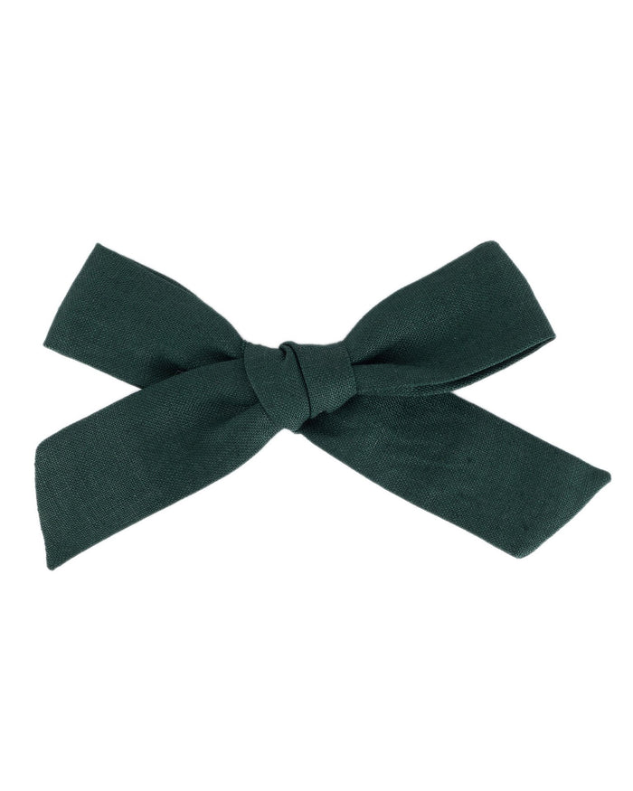 Little little accessories oversized schoolgirl bow in hunter