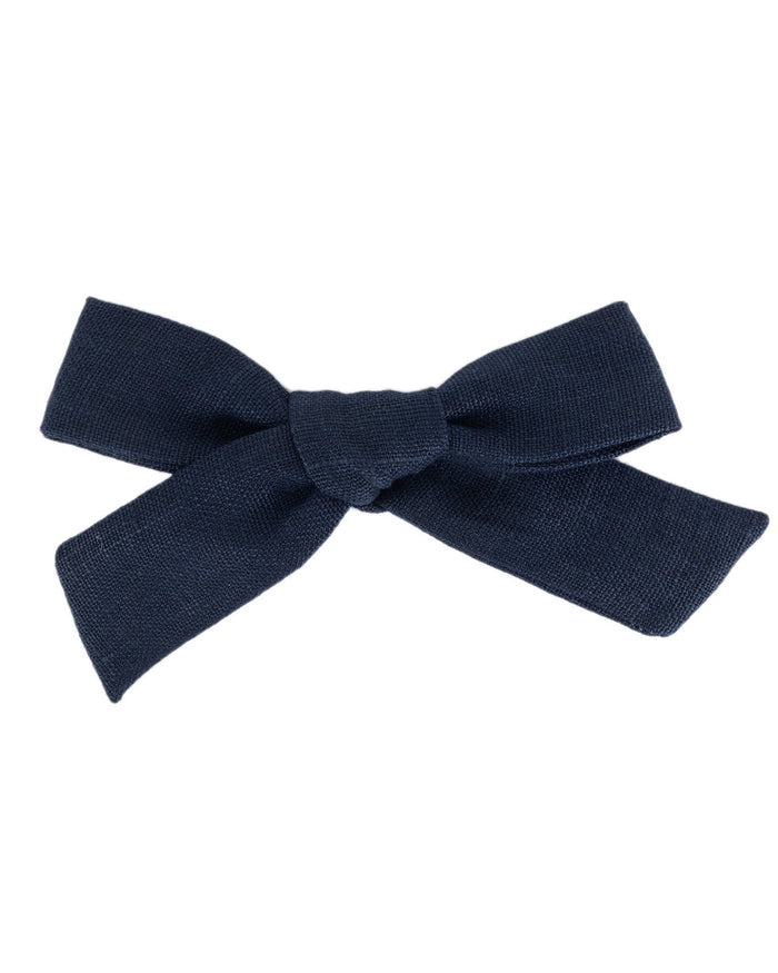 Little little accessories oversized schoolgirl bow in indigo