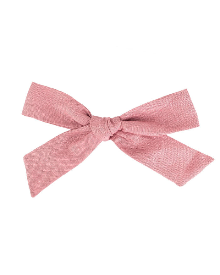 Little little accessories oversized schoolgirl bow in peony