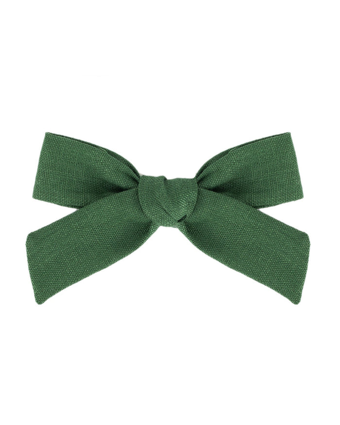 Little little accessories oversized schoolgirl bow in pine