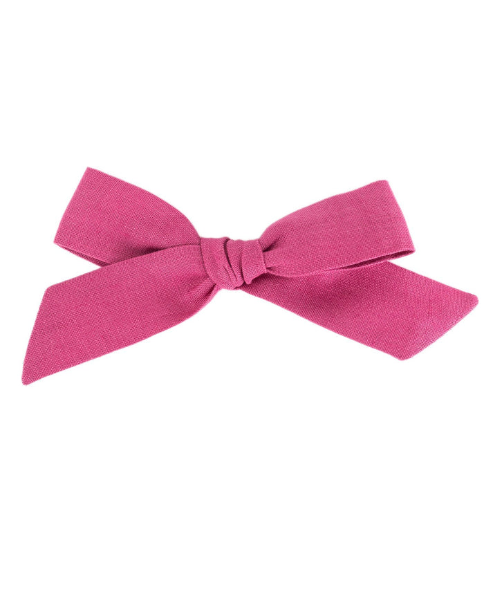 Little little accessories oversized schoolgirl bow in primrose